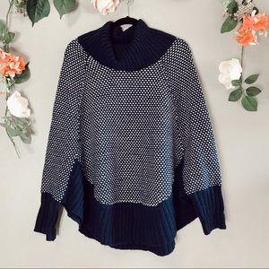 Market & Spruce poncho turtleneck sweater sz M